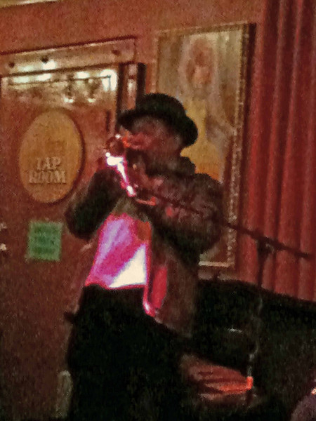 The blues trumpeter in King's Palace Cafe on Beale Street, Memphis, TN.