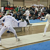 Ella Barnes vs Kimberly Howell in the Junior Women's Epee.