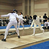 Katharine Holmes (left) in the Junior Women's Epee.