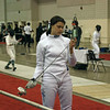 Katharine Holmes in the Junior Women's Epee.