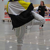 Olivia Morreale stretches before the Division III Women's Epee.