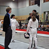 Siobhan Fabio vs Cynthia Ameli in the DE of Division II Women's Epee.