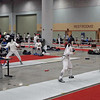 Nina Moiseiwitsch ahead 4-0 in the Division II Women's Epee.