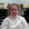 Siobhan Fabio getting ready for the Division II Women's Epee.
