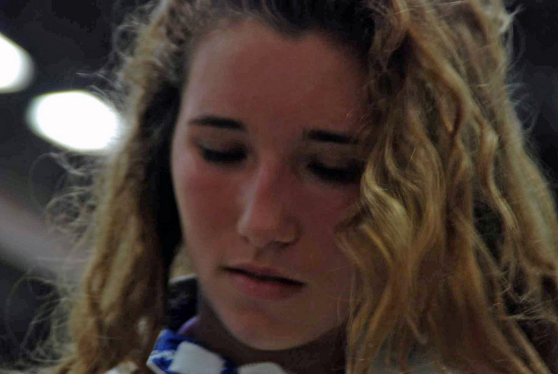 Ella Barnes before the Division II Women's Epee.