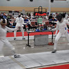 Olivia Morreale (left) in Cadet Women's Epee.
