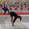 Ella Barnes stretches before the Division III Women's Epee.