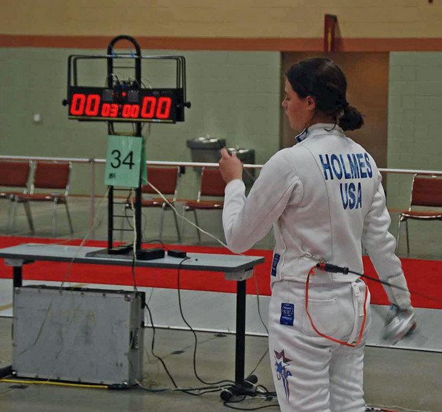 Katharine Holmes in Cadet Women 's Epee.