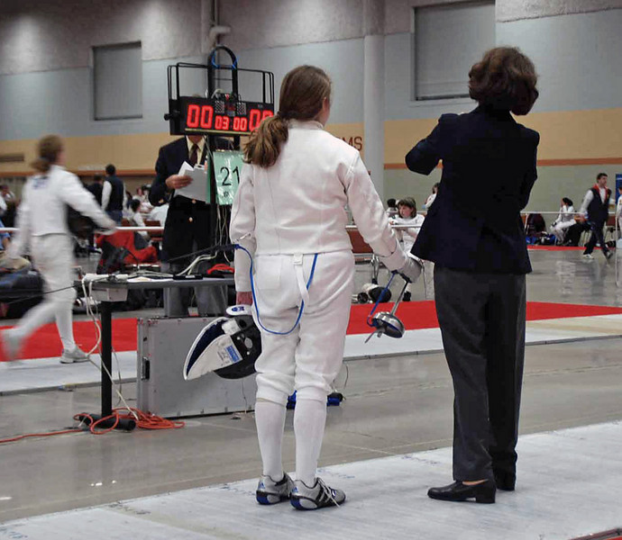 Siobhan Fabio in the Division III Women's Epee.