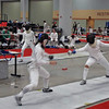 Nina Moiseiwitsch (left) in the Division II Women's Epee.