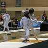 Nina Moiseiwitsch infights in Junior Women's Epee.