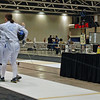 Katharine Holmes congratulates her opponent,Courtney Dumas, after Katharine won 15-7 in Cadet Women's Epee.