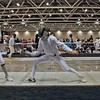 Carolyn Townsend (left) in Y14 Women's Epee.