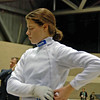 Katharine Holmes concentrates before her bout in the final 8 in Cadet Women's Epee.
