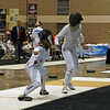 Nina Moiseiwitsch (left) in Junior Women's Epee.