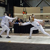 Ella Barnes (right) doubles in Cadet Women's Epee.