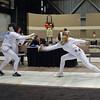 Ella Barnes (right) doubles in Cadet Women's Epee.