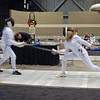 Ella Barnes (right) in Cadet Women's Epee.