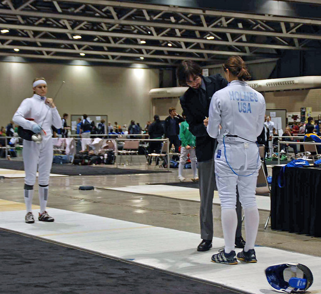 Katharine Holmes in Cadet Women's Epee.