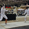 Carolyn Townsend (left) competes in Junior Women's Epee.