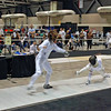 Nina Moiseiwitsch (left) in Cadet Women's Epee.