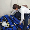 Katharine Holmes preparing for the Junior Women's Epee.