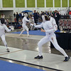 Katharine Holmes (right) in Junior Women's epee.