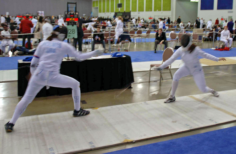 Katharine Holmes in Division I Women's Epee.