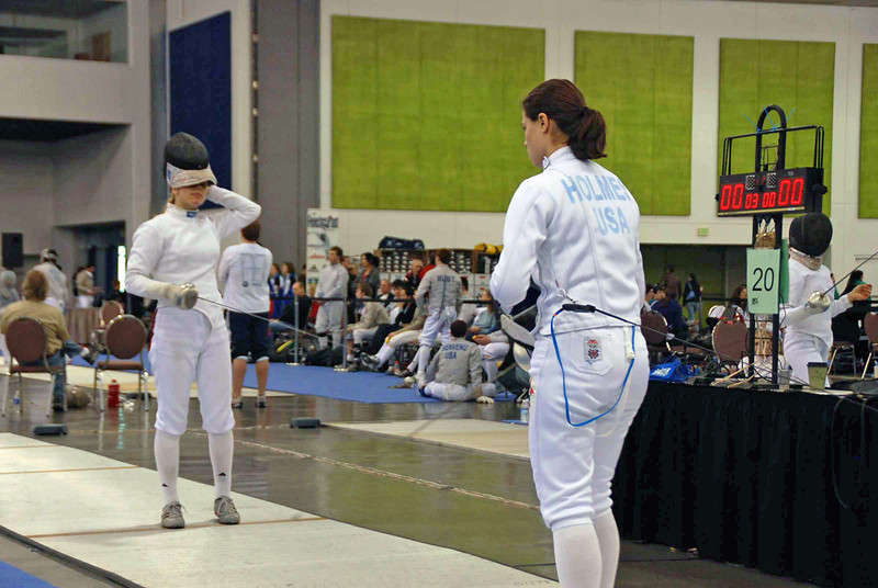 Katharine Holmes in Junior Women's Epee.