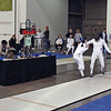 Nina Moiseiwitsch (left) in the Junior Women's Epee.