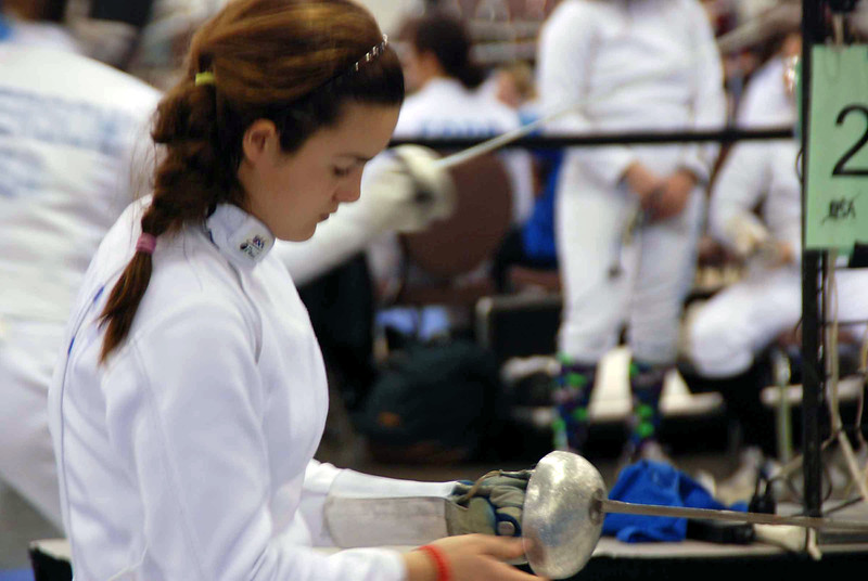 Nina Moiseiwitsch in Division I Women's Epee.