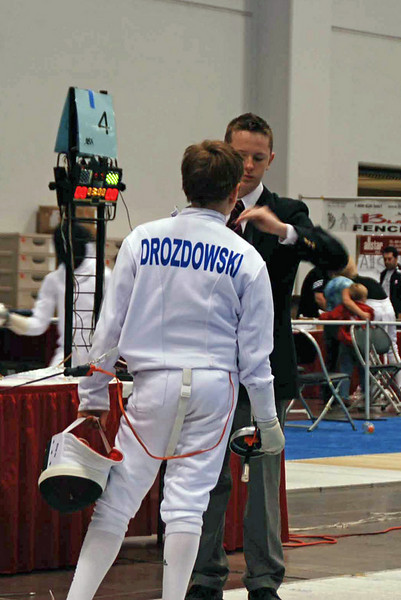 Jacob Drozdowski in the Y12 Men's Epee.