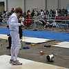 Jacob Roberts prepares for the Y12 Men's Epee.