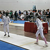 Elizabeth Wiggins (right) in the DE of Y14 Women's Epee.
