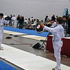 Raphael Hviding (right) salutes in the Y14 Men's Epee.