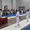 Carolyn Townsend (left) in the DE of Y14 Women's Epee.