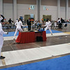 Katharine Holmes (left) in the Division I Women's Epee.