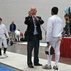 Seth Flanagan has his equipment inspected for his DE bout in Y14 Men's Epee.