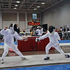 Levi Freedman (left) in the Y10 Men's Epee.