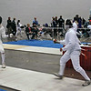 Seth Flanagan (right) in the Y14 Men's Epee.