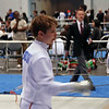 Jacob Drozdowski checks guards in the Y12 Men's Epee.