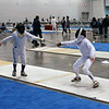 Jacob Drozdowski (right) in the DE of Y12 Men's Epee.