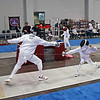 Romain Hufbauer (right) in the Y10 Men's Epee.