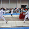 Jacob Roberts (left) in the Y12 Men's Epee.