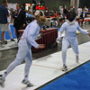 Olivia Morreale (left) in Division II Women's Epee.