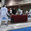 Katharine Holmes (left) in the U19 Women's Epee.
