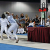 Jacob Roberts (right) in the direct elimination round of the Y12 Men's Epee.
