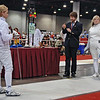 Olivia Morreale (left) in the Division III Women's Epee.