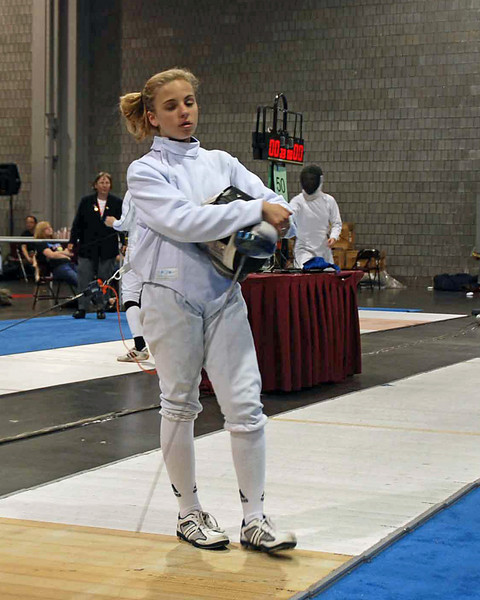 Olivia Morreale in Division II Women's Epee.