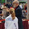 Olivia Morreale in the direct elimination of Y14 Women's Epee.  (Referee David Micahnik, retired U of Penn coach.)